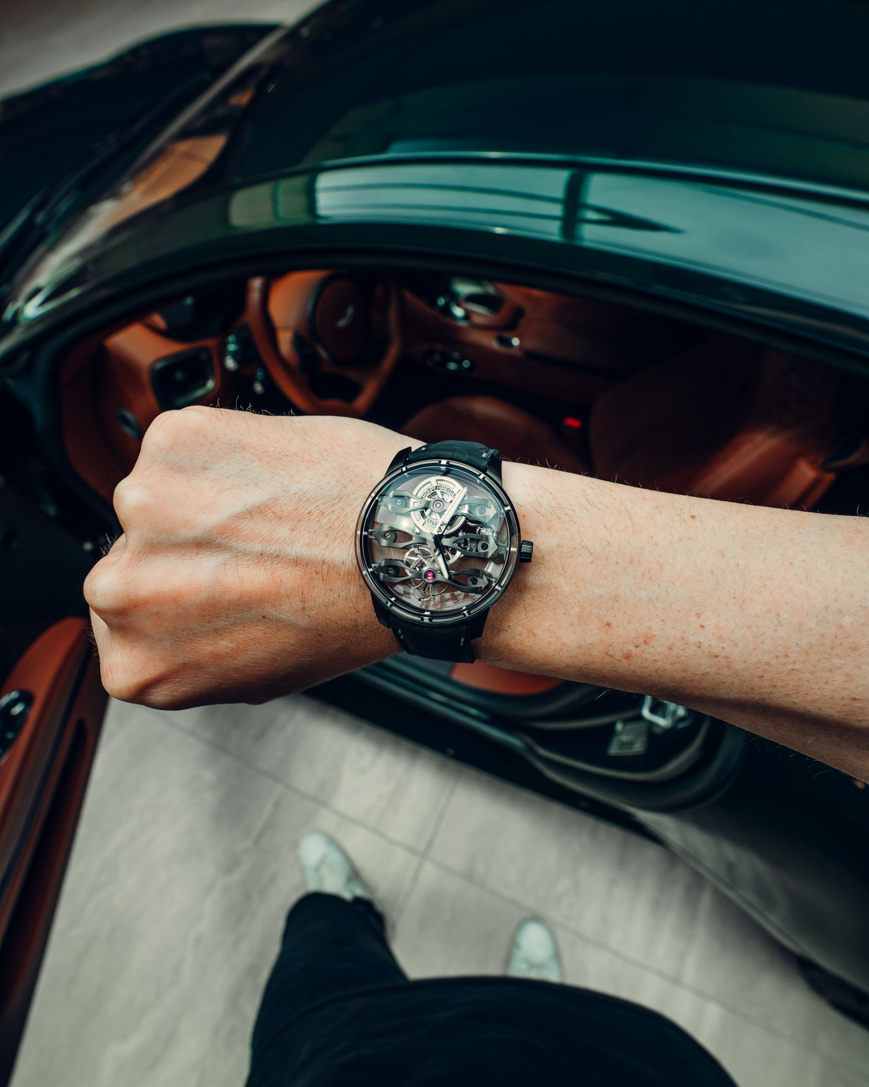 @carswithluke wristshot Aston Martin & Girard-Perregaux